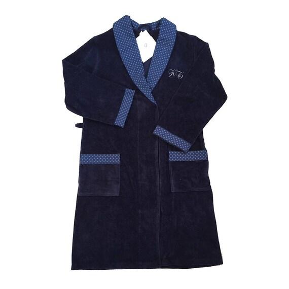 Men\'s Robe Dark Blue Light Cotton Robe Lightweight | Etsy