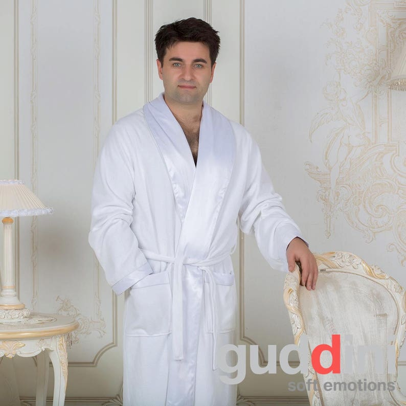 17ddf33d61 Custom Made Mens Dressing Gown Long Luxury Terry Robe