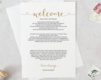 wedding welcome letter template wedding itinerary welcome itinerary welcome bag note printable welcome wedding stationery bd6096