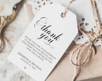 Wedding Favor Tags Printable, Wedding Gift Bag, Thank You Tags, Wedding Gift Bag Tags, Wedding Gift Bag Tags, Favor Tags Wedding, BD6045