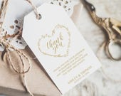 Gold Wedding Tags, Gift Bags Tags, Printable Gold Foil Favor Tags, Editable Tags, Gold Favor Tags, Personalized Tags, Thank You Tag, 6054_1