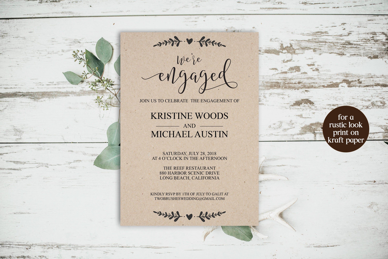We\'re Engaged We\'re Engaged Invitation Engagement