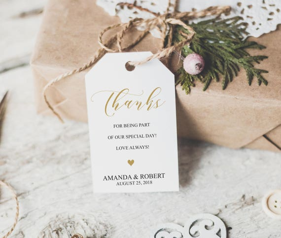 Wedding Favor Tags Thank You Tags Thank You Tags Template Etsy