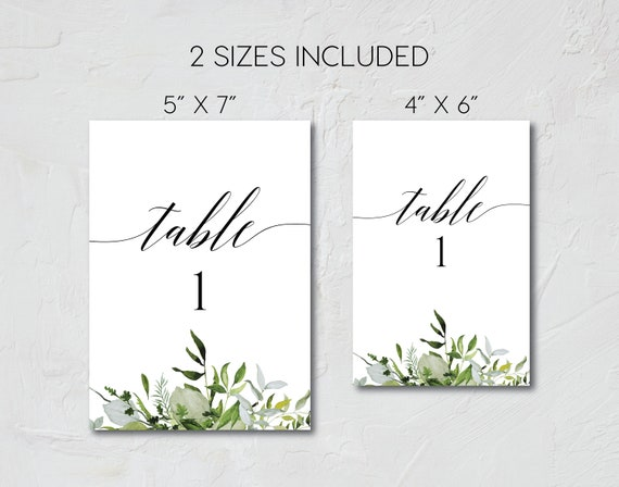 wedding table numbers printable table numbers template etsy