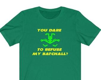 Batchall Shirt for BattleTech and Mechwarrior Clan Jade Falcon Fans