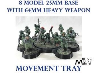 25mm Base Movement Tray 28mm miniatures Warhammer 40K | Etsy