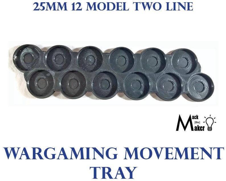 12 Model 25mm Base Movement Tray for Warhammer 40K 28mm miniature Wargame  Tau Firewarriors