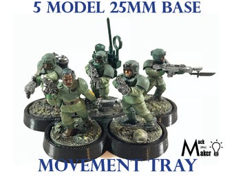 25mm Base   Movement Tray   28mm miniatures   Warhammer 40K   Age of Sigmar   Bolt Action    Imperial Guard   Astra Militarum   Ork