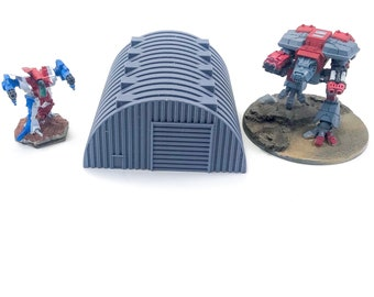 6mm 8mm Scale Quonset Hut Terrain for Miniature Wargames like Battletech, Warhammer Epic and Dropzone Commander