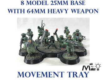 Warhammer 40K   Imperial Guard   Movement Tray   Astra Militarum   Heavy Weapon Team   25mm base   28mm   miniature   wargaming   Table Top