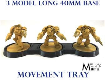 40mm Warhammer 40K 40000 Movement tray for Custodes Primaris inceptors ogryn wulfen Ork flash-gits tyranid tryant guard Sigmar Terminators