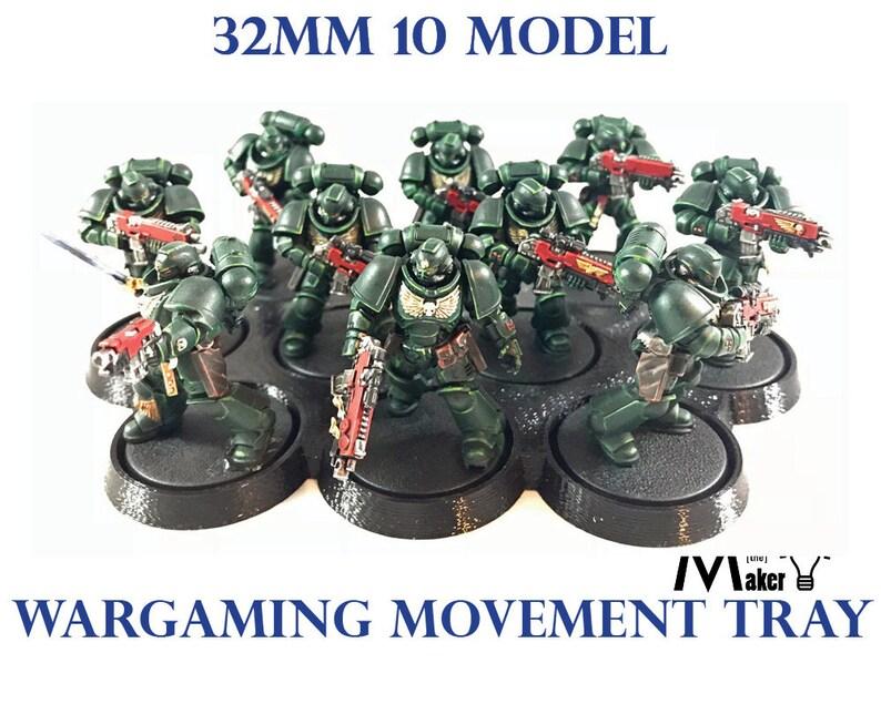 32mm Base  Movement Tray  Warhammer 40K  Age of Sigmar  image 0