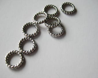 Textured metal 10mm ring