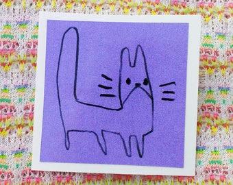 Tall Cat Sticker