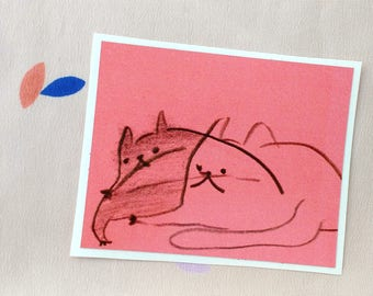 Red Cats Sticker