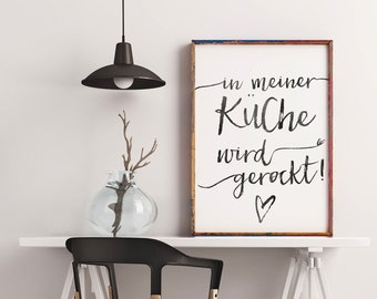 Küche poster | Etsy