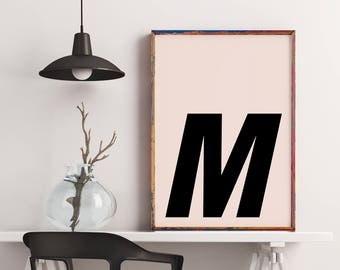 Poster: typolove - Monogram / Letter M no. 1