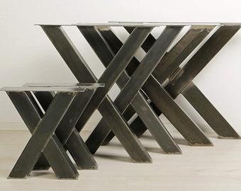 1 PAAR BestLoft® Kufen Design X - Tischkufen Industriedesign Tischgestell Stahl Tischuntergestell Tischkufe Kufengestell