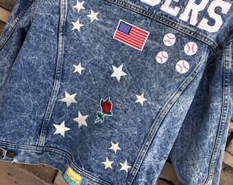 2c6352147315e Custom denim jacket