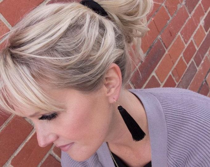 Featured listing image: Silk Tassel Earrings