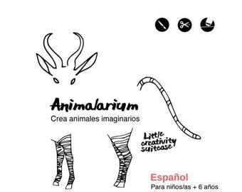 Animalarium - Set para dibujar animales fantásticos.