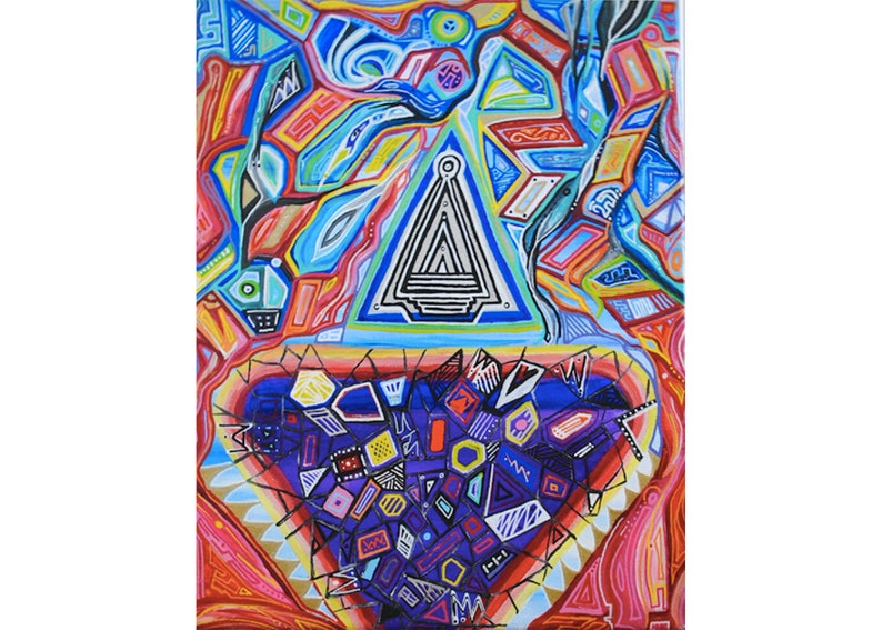 Trifecta Original Acrylic Painting - Psychedelic Experience - Vibrant -  Energizing - Soul Soothing - Trance Art - Psy Experience -