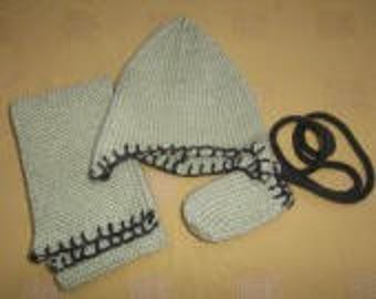 Peruvian set: hat, scarf and mittens baby