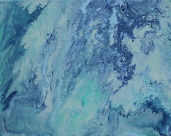 Acrylic Fluid Painting Print: Earth From Space