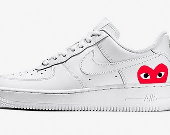 cheap for discount 2d5d7 413ea Nike Air force 1 CDG red - CUSTOM