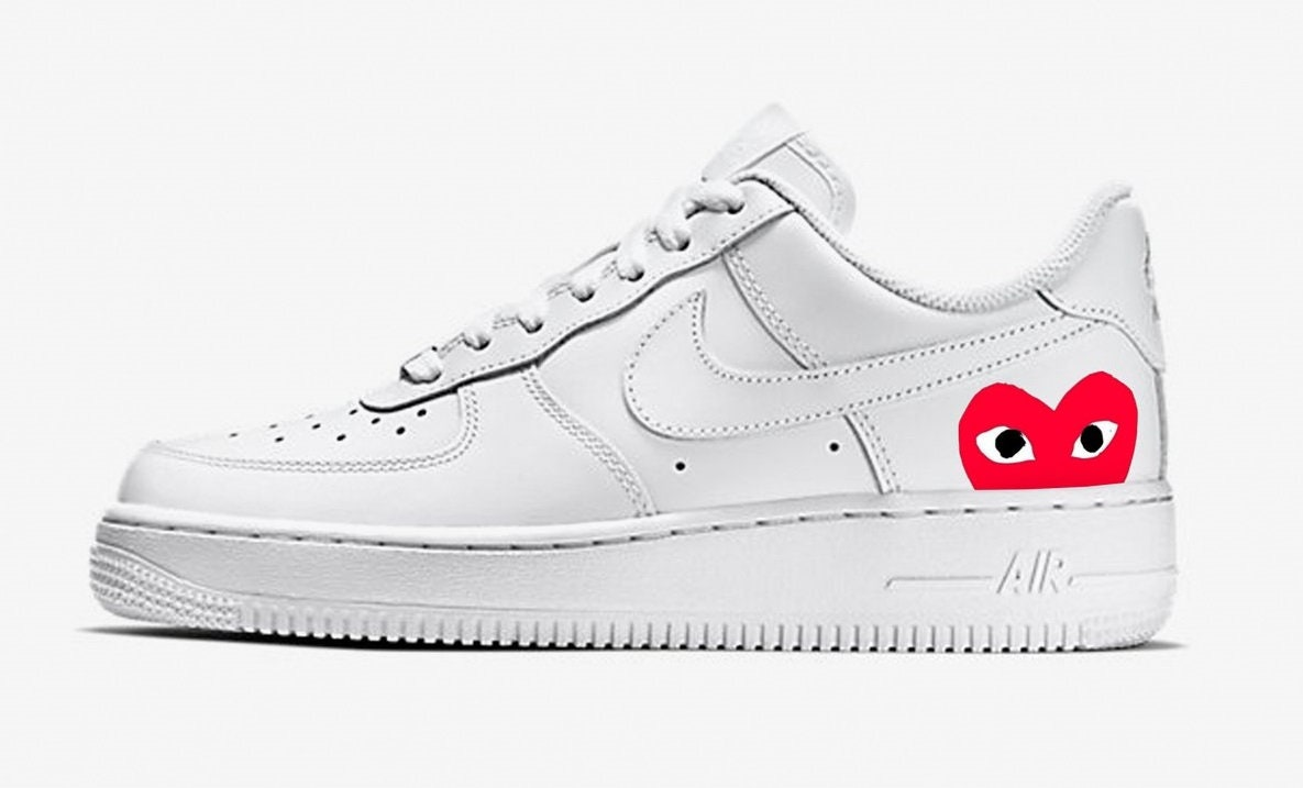 separation shoes fee7d 3d4ef Nike Air force 1 CDG red CUSTOM  Etsy