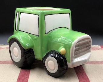 Vintage Antique Auto  Truck Detailed Stoneware Planter