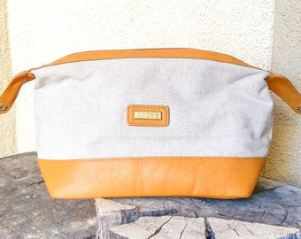 Canvas Handbag, Canvas Clutch Purse, Boho Purse, Leather Clutch Purse, Fabric, Bohemian, Boho Chic, Make-up Bag, Evening Bag, Minimalist
