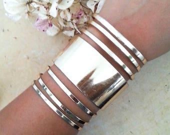 Vintage Brass Statement Cuff Bracelet, Brass Bracelet, Bohemian Jewelry, Boho Chic, Bracelet, Hippie, Gypsy, Vintage Jewelry, Stacked