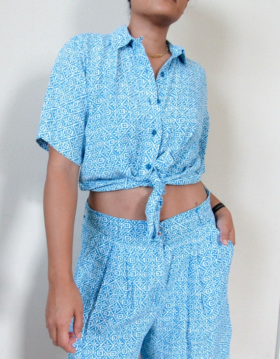 VINTAGE Matching Two Piece Set SZ L, Womens Shorts
