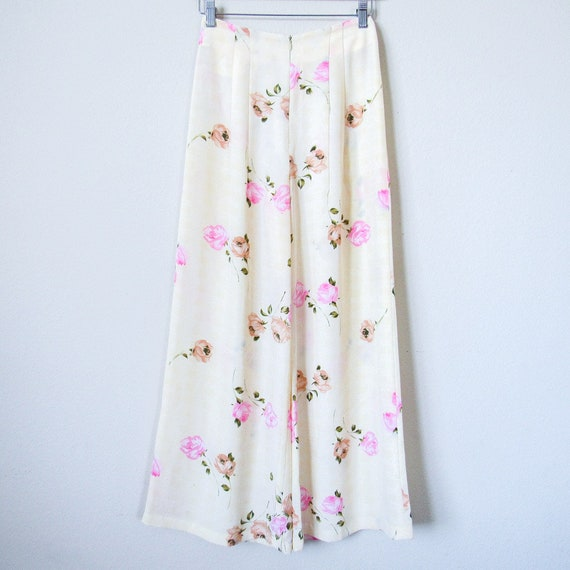 VTG Floral Matching Two Piece Pant Set SIZE XS, R… - image 3