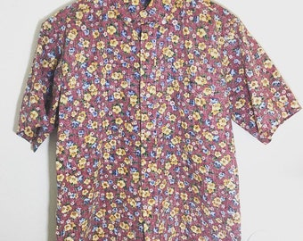 Reyn Spooner floral print mens buttondown shirt