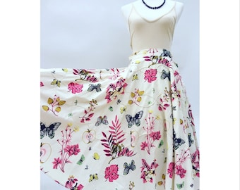 1950's novelty circle skirt. Spring print.
