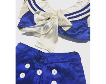 Rare! 1920's sailor costume burlesque showgirl set authentic