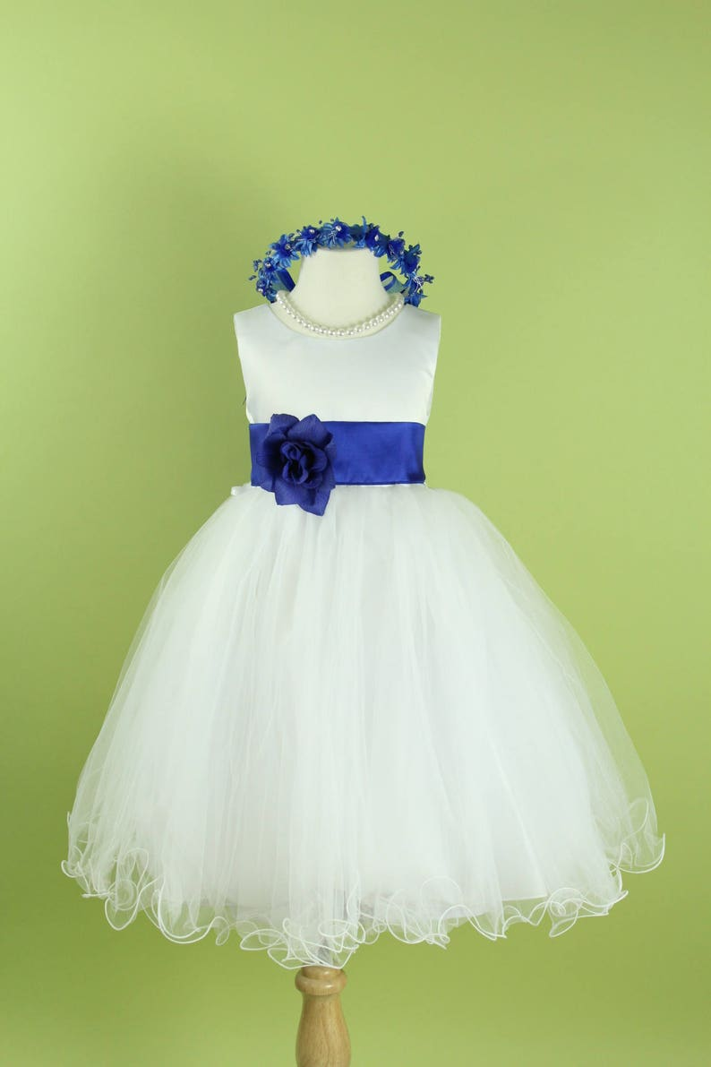 24374e942264 Flower Girl Dresses Color Royal Blue