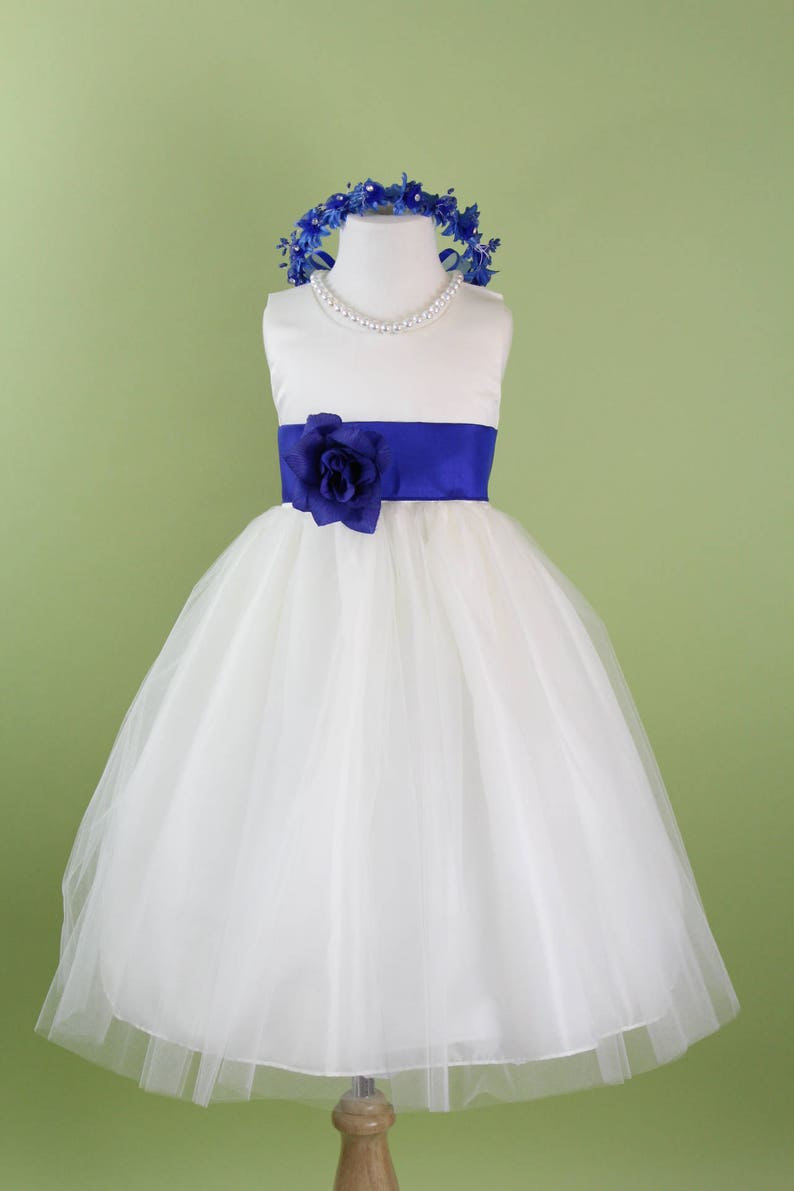 792298a4041 Royal Blue Color Flower Girl Dresses