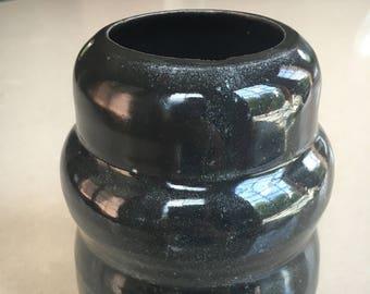 Black Bubbling Vase