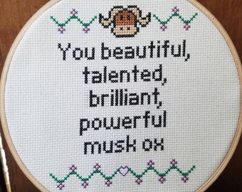 Parks and Rec Musk Ox Pattern