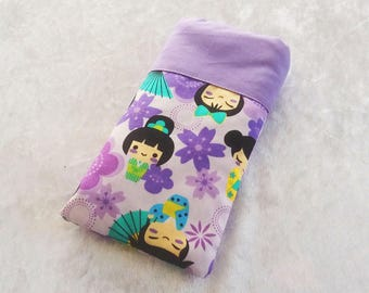 Phone purple Japanese dolls