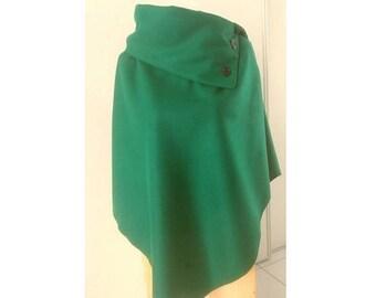 Emerald Green cape poncho