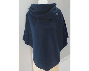 Navy Blue cape poncho