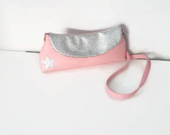 Pink kids pouch bag