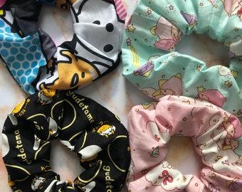 Scrunchies kawaii Japanese anime, pastel, lazy egg, LTS inspired
