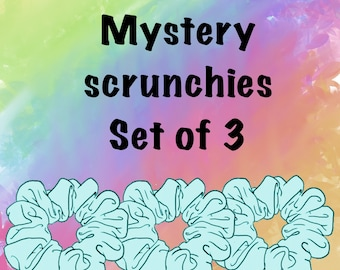 Mystery pack, grab bag of scrunchies, set of 3