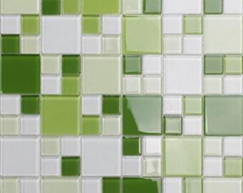 Groene Mozaiek Tegels : Kristalglas tegels bad verguld rose gold glas mozaïek keuken etsy