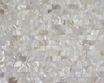Mother Of Pearl Tile Seamless Shell Mosaic Wall Tiles Subway Design Tile Backsplash for Kitchen and Bathroom